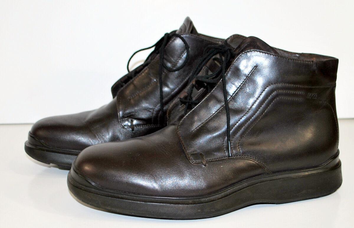 Hugo Boss Ankle Boots Chuka 40 EU 7 US medium Lace up Rubber Sole