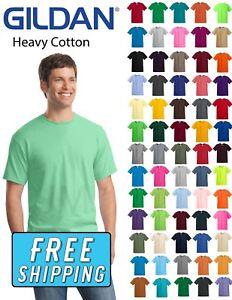 Gildan-5000-Heavy-Cotton-T-Shirt-100-Cotton-Small-XL