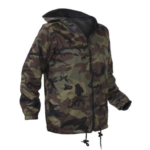 Rothco 8275 Kids Woodland Camo Reversible Jacket with Hood
