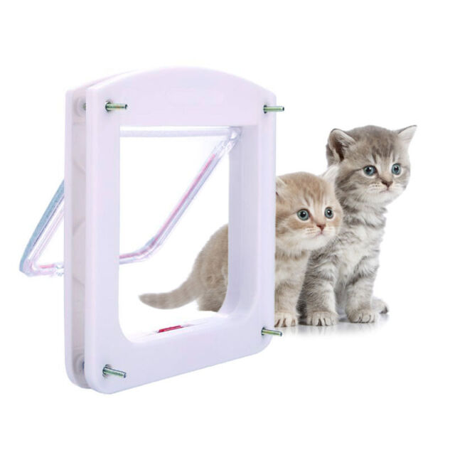 Cat Small Dog Flap Doors 4 Way Locking For Pets Entry Exit