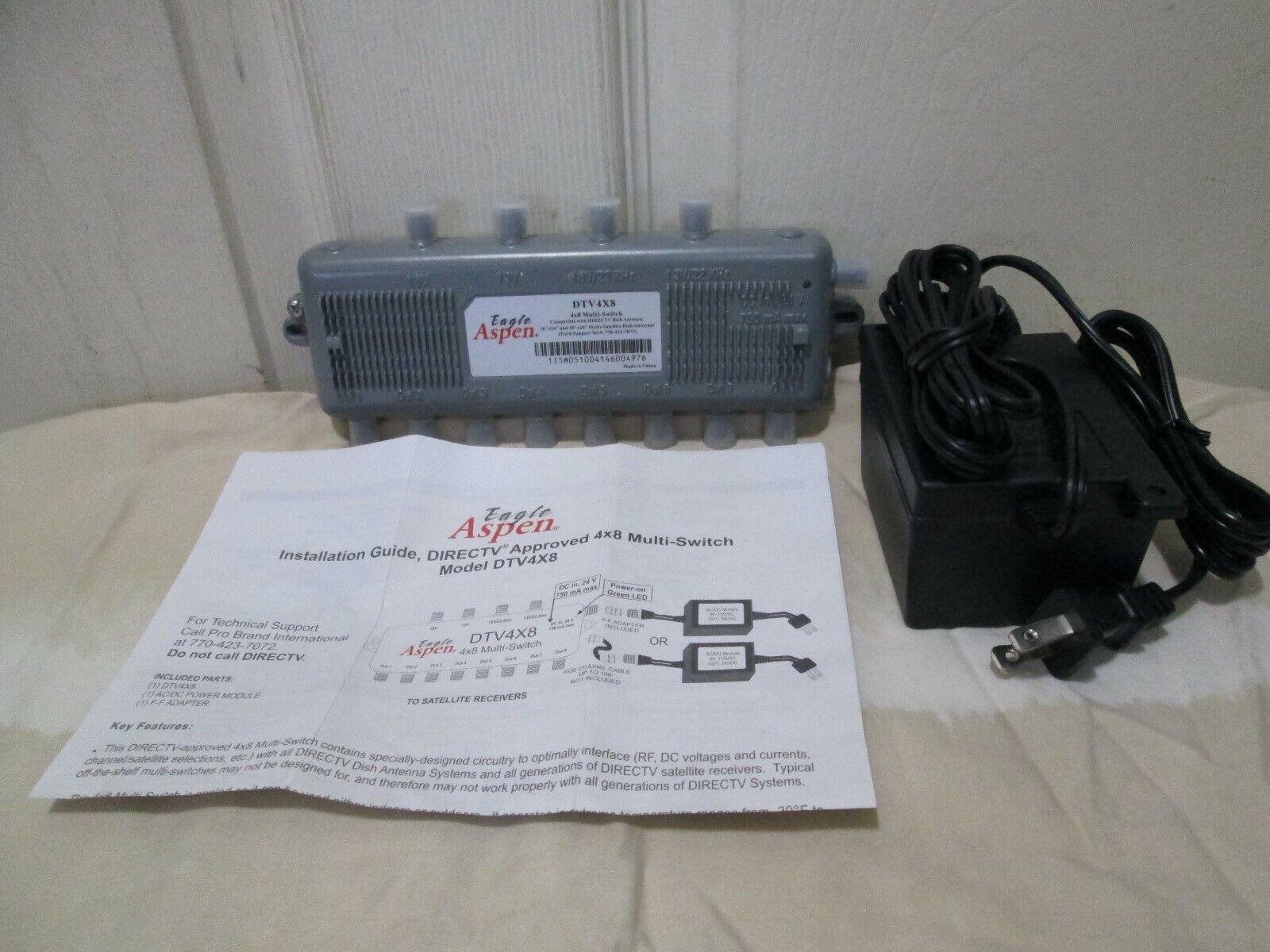 EAGLE ASPEN DTV 4X8 DIRECT TV MULTI SWITCH W/ POWER CORD Satellite ...
