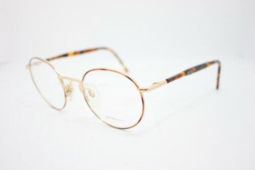 Young Generation Vintage Eyeglasses Eyewear Made in Italy Round gold Havana 50mm