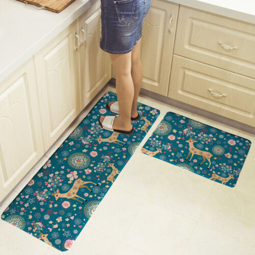 HOT 2X Large Non-Slip Kitchen Floor Mat Washable Machine Rug Door Runner Carpet