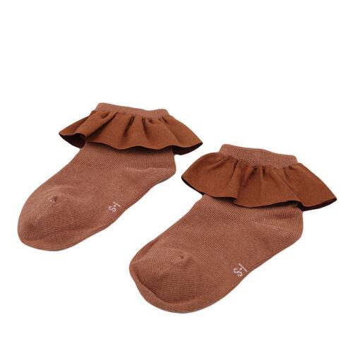 Children Girls Ankle Fancy Fairy Retro Lace Ruffle Frilly Short Socks MA