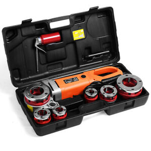 HD-2000W-Portable-Electric-Pipe-Threader-6-Dies-Threading-Machine-1-2-034-to-2-034-New