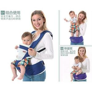 Infants Hip Seat + Baby Carrier Breathable Ergonomic Wrap Sling Backpack 2 in 1