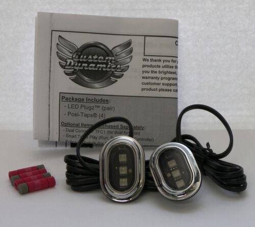 Smoked Lens Custom Dynamics Plugz Antenna Hole Filler Lights; Harley Davidson