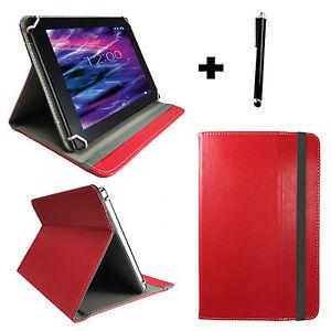 8 zoll Tablet Pc Tasche Schutz Hülle Etui - Asus ZenPad Z380M Case Rot