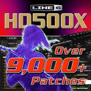 Details about Line 6 HD500X - Patches / Presets for Line 6 POD HD500X -  HUGE TIME SAVER!