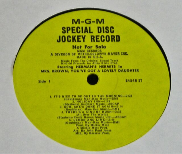 Herman's Hermits-Mrs. Brown... 1968 US PROMO-ONLY MONO LP-NEAR MINT-RARE!
