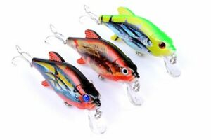 Eyes 3D Eyes Plastic Hard Crank Minnow Wobbler Fishing Lure Bionic Bait