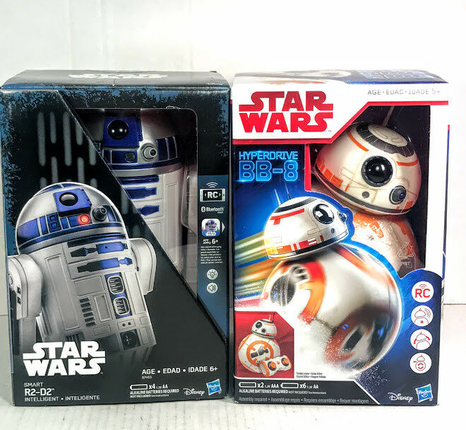 Star Wars Smart R2-D2 app enabled & Hyperdrive BB-8 Remote Control christmas LOT
