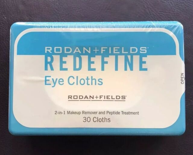 Rodan and Fields REDEFINE Eye Cloths, New Sealed Box, 30 Cloths
