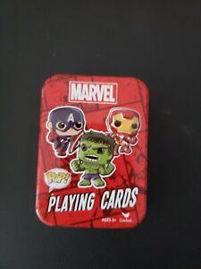 Funko-Pop-Marvel-Playing-Cards-Deck-with-Tin-Hulk-Iron-Man-Captain-America-MINT