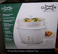 Cuizen 16 Cup Rice Cooker W/ Steam Tray - Crc-2016st -