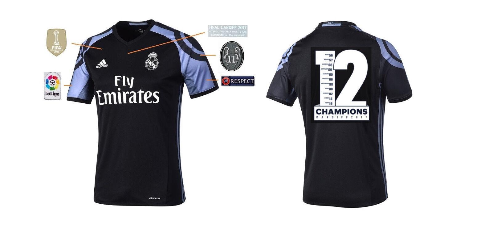 Trikot Real Madrid Third Champions League Final Cardiff 2017 - 12 Duodecima  | Haltbarer Service