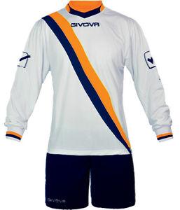 Givova-Kit-Calcio-Calcetto-Maglia-manica-lunga-Pantaloncino-football-kit