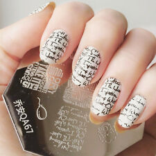 Nail Art Stamping Schablonen Stempel Nagel Template Image Plate QA67