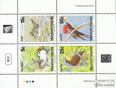 Devoted Marshall-islands 284-287 Sheetlet Unmounted Mint / Never Hinged 1990 Birds