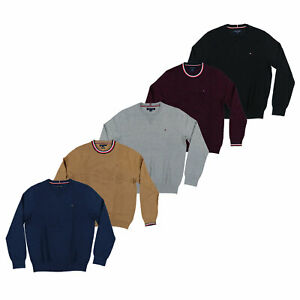 Tommy-Hilfiger-Mens-Sweater-Pullover-Crew-Neck-Cable-Knit-Casual-Long-Sleeve-New