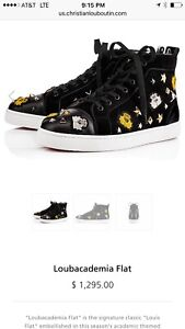 9e0dd6d58fa Image is loading christian-louboutin-Mens -Sneakers-Loubacademia-Flat-Size-45-