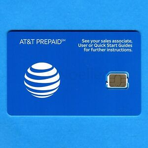 NEW UNACTIVATED AT&T Prepaid Nano SIM card - no contract pay as you go
