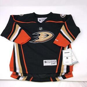 NWT-Reebox-NHL-Black-Anaheim-Ducks-Jersey-Youth-Kids-Toddler-2-4T