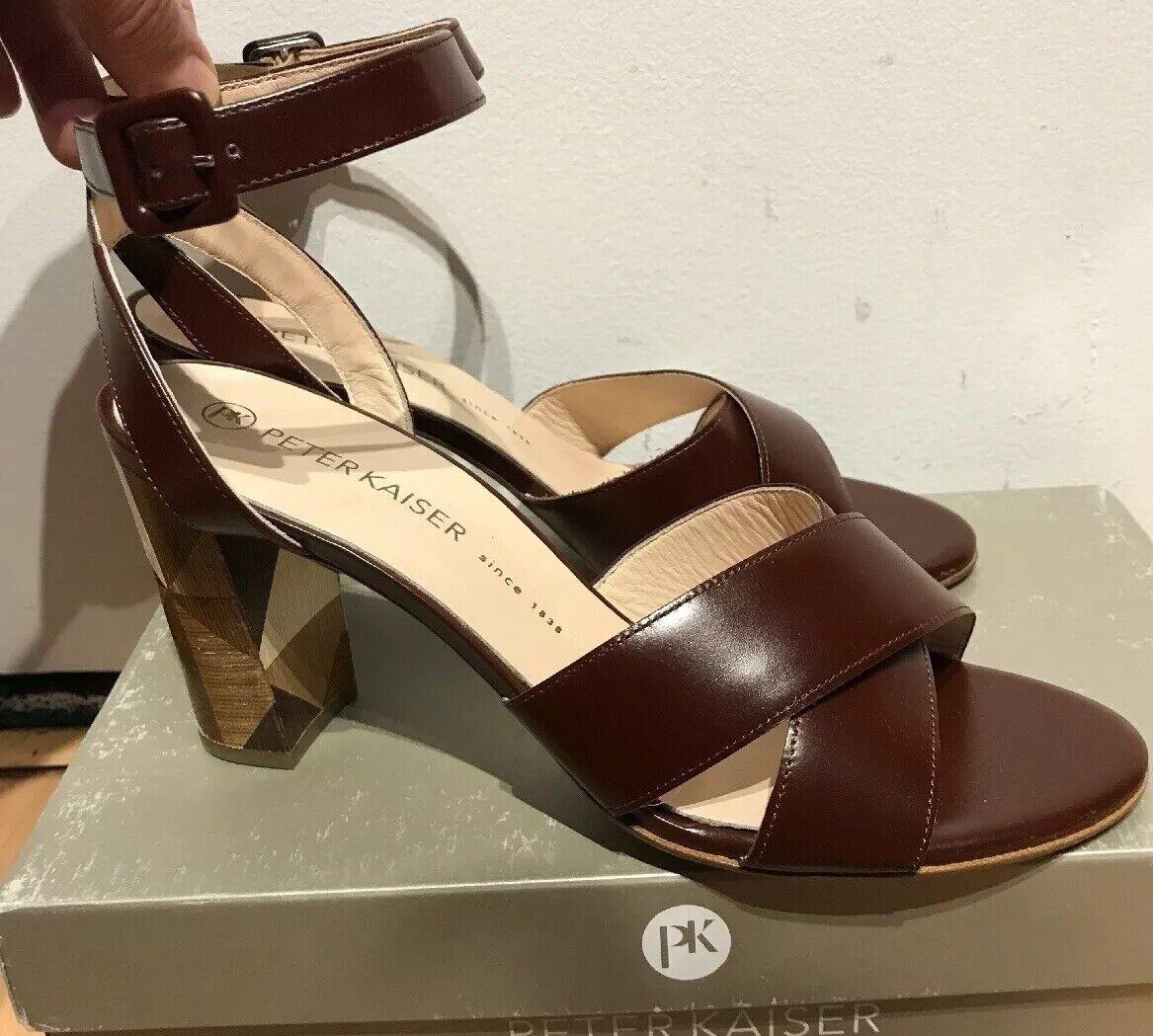 vendendo bene in tutto il mondo PETER KAIZER PIETRA donna Marrone Marrone Marrone LEATHER HEEL SANDALS scarpe 9.5 NEW  shopping online e negozio di moda