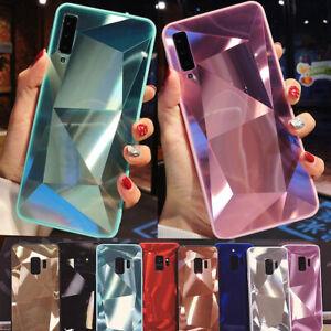 Diamond-Bling-Case-For-Samsung-Galaxy-J8-J4-J6-Plus-2018-J3-J5-J7-Mirror-Cover