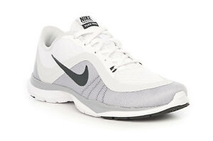 Women s Nike Flex Trainer 6 White Platinum Running Training Shoes ... 69383fa451