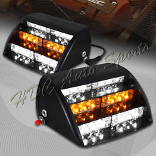18 LED White & Amber Emergency Hazard Warn Windshield Dashboard Strobe Light 4