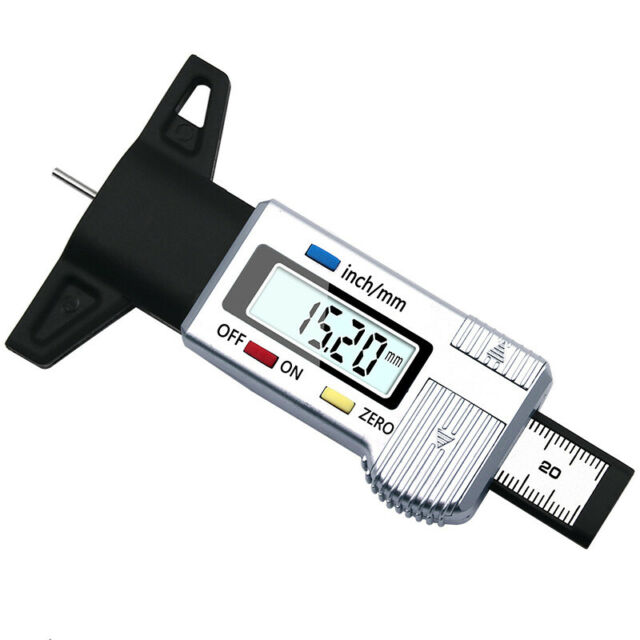 FIRSTINFO Auto Brake Disc Depth Gauge and Tire Tread Depth Measuring Caliper