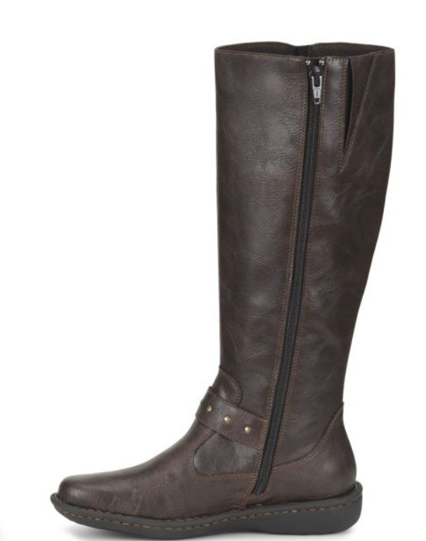 NEW BORN B.O.C AUSTIN BROWN TALL BOOTS RIDING BOOTS WOMENS 8.5 Z36806 ZIP SIDE