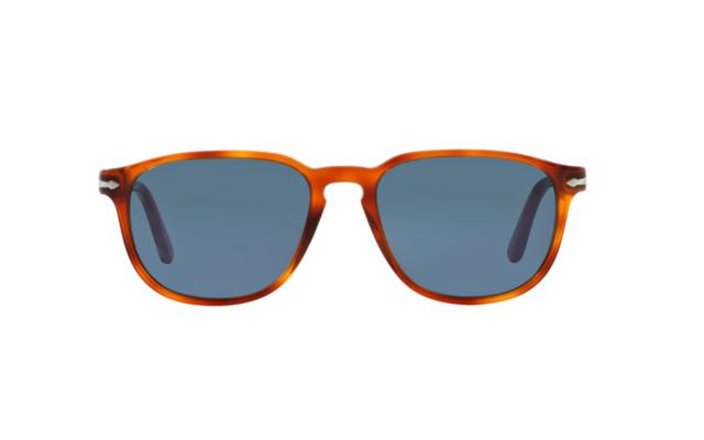 831430d00e NWT PERSOL Sunglasses PO 3019S 96 56 Light Havana   Crystal Blue 55 MM 9656