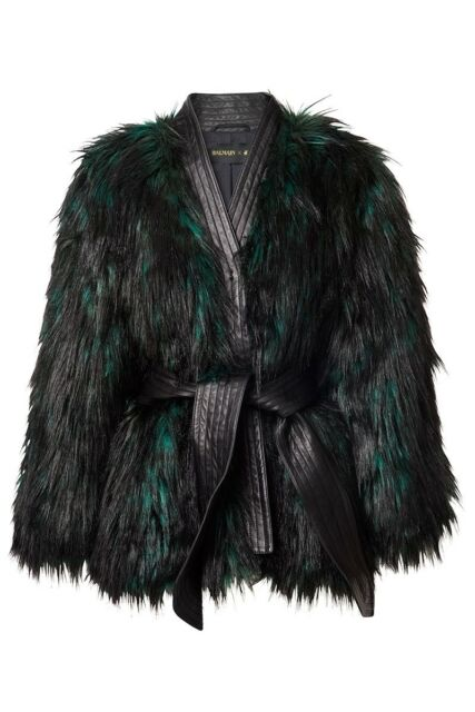 Balmain x H&M Fur Jacket Size 10 USA
