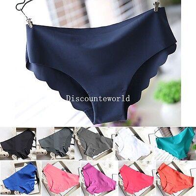 New Womens Women Sexy Seamless Plain Underwear Briefs Lingerie Panties knickers