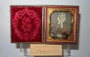 Victorian Mid 1800's Antique Nova Scotia Daguerreotype Case & Image, GORGEOUS!