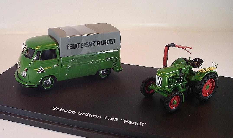 Schuco 1 43 VW programar coche t1  Fendt  & Fendt tractor OVP