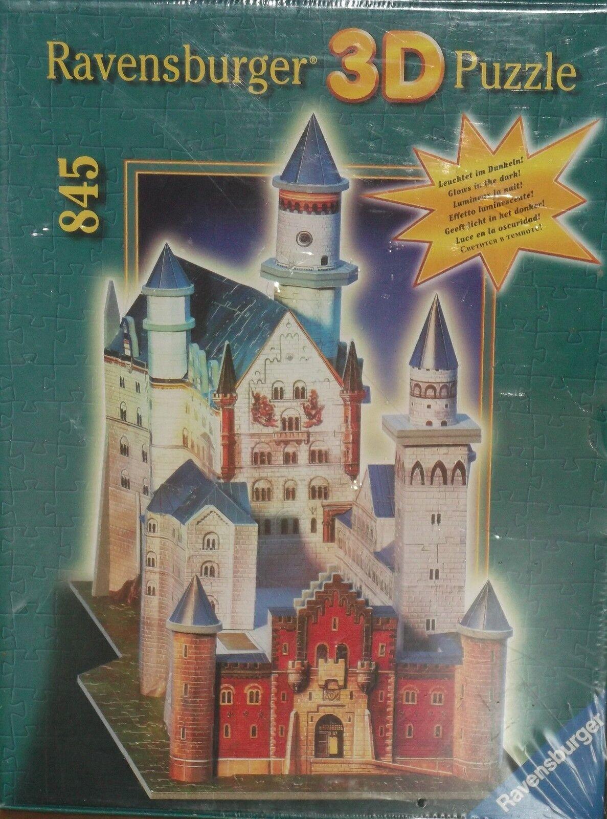 Neuschwans Tein 3d Puzzle-RAVENSBURGER - 845 pezzi-Glow in the Dark OVP
