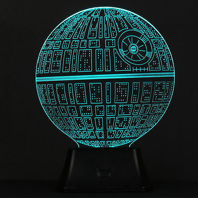 3D Color Change LED Wars Death Star Bulbbing Illuminated Night Light Table Lamp