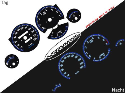 Selbstleuchtende Tachoscheiben Plasma Tacho BMW E30 20-240Km//h 7000Umin #