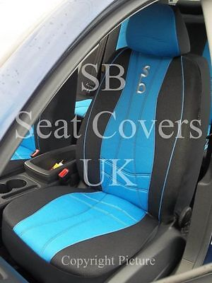 Seat covers universal full set fit  Fiat 500L  green//black Sport Line