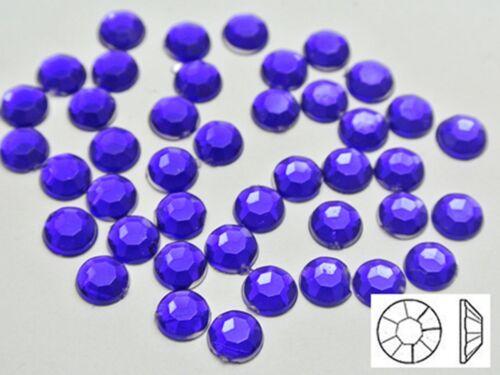 "NO Hole Color for Choice 1//4/"" 500 Flatback Acrylic Round Rhinestone Gems 6mm"