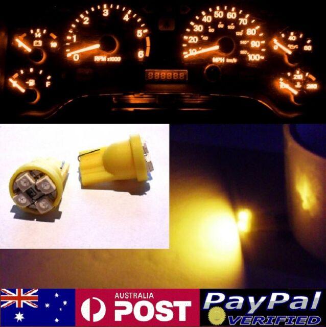 Amber LED Dash Gauge Light Kit - Suit Subaru Forester 1997-2002 GX GT