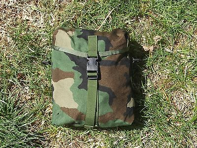 MOLLE II Woodland Camouflage Army Sustainment Utility Dump Pouch Bag Very Good
