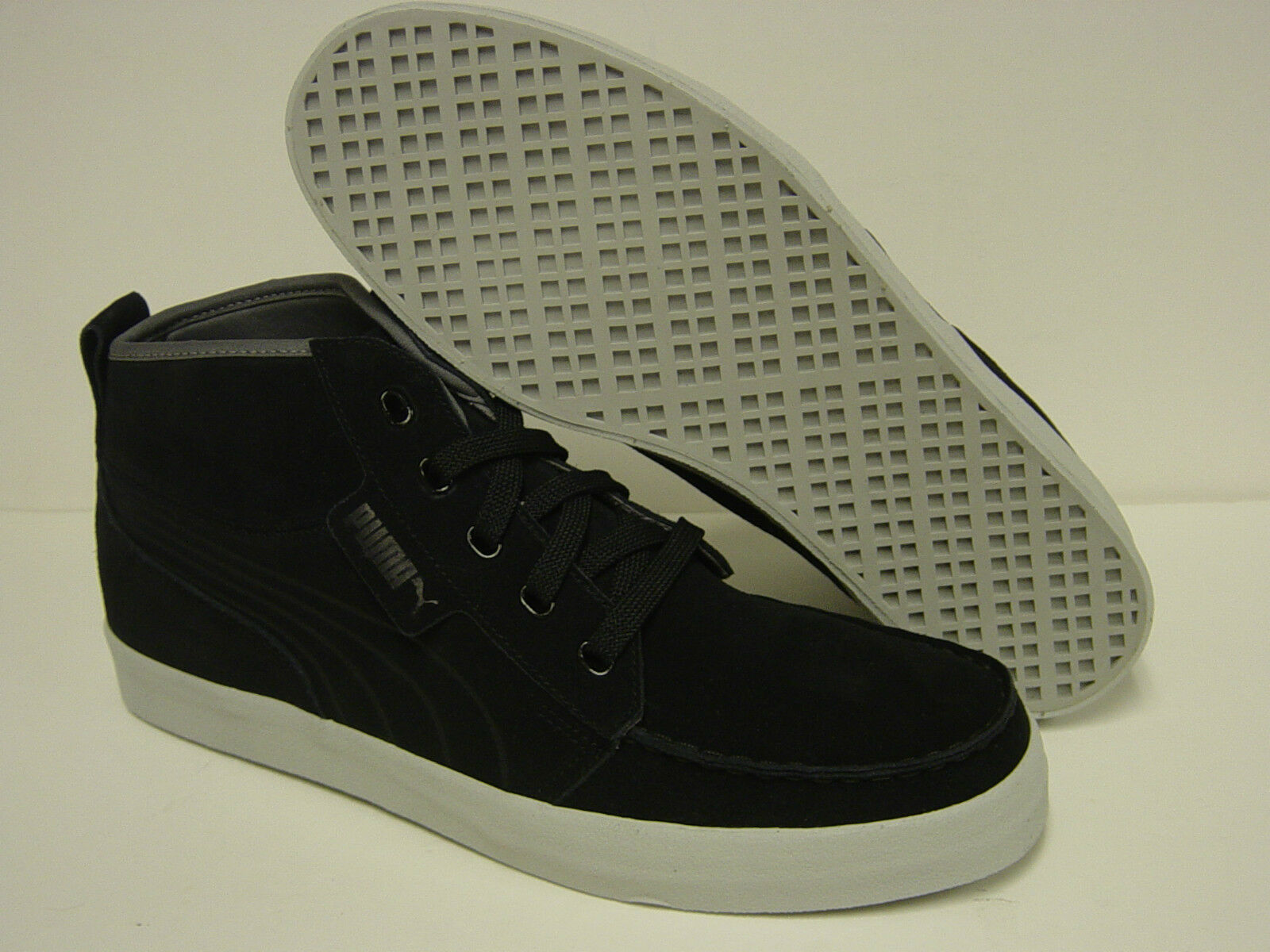 NEW Mens PUMA Hawthorne XE Suede 352802 01 Black Steel Grey Sneakers Shoes