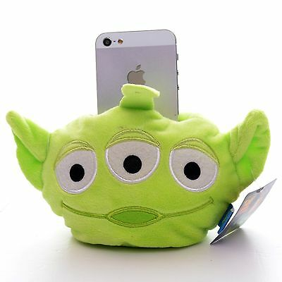 "Cute Disney Pixar Toy Story Alien Iphone 5 Phone Case Plush Holder Mount 5"" New"