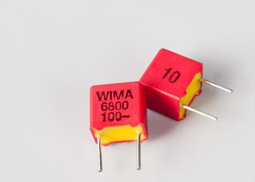 2pcs For WIMA FKP2 100V 6800pF 6.8nF Audio Crossover Non-Polarity Capacitor