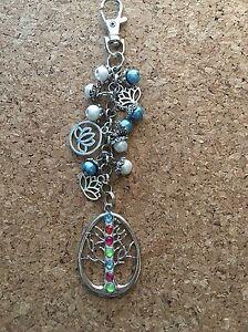 Lotus-Flower-Tree-Of-Life-Keychain-Purse-Charm-Keychain
