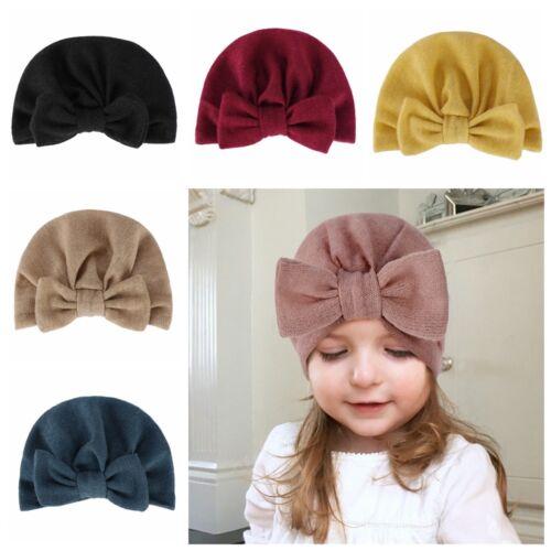 neugeborene hut turban baby beanie mütze stricken kopf wickeln wenn bowknot